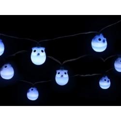 Záhradná LED solárna svetelná reťaz Sovičky Sharks SA082