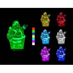 3D LED lampa - Santa Claus Sharks SA097