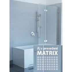 VAŇOVÁ ZÁSTENA RAVAK GLASSLINE MATRIX GVS2 100 Ľavá/Pravá (cena za komplet)
