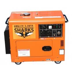 Elektrocentrála D6700LES Diesel Silent Sharks SHK470