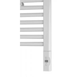 Elektrická vykurovacia tyč s termostatom a diaľkovým ovládaním,900W,D-tvar,biela