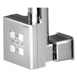 KTX vykurovacia tyč s termostatom s krytom pre kábel, 600 W, chróm