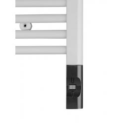 Elektrická vykurovacia tyč s termostatom a diaľkovým ovládaním,900W,D-tvar, antr