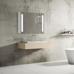 Bath Concept ZRKADLOVÁ SKRINKA Hapa Design VENEDIG 80 biela , 1 dvere s LED osvetlením