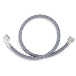Práčková napúšťacia hadica s kolenom 100 cm šedá-100cm