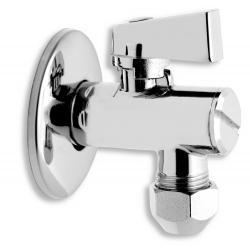 Rohový ventil s filtrom, krytkou a kovovou pákou a prevlečno