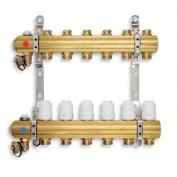 ROZDEĽOVAČ s regulačnými, termost. a mech.ventilmi 12okruhov